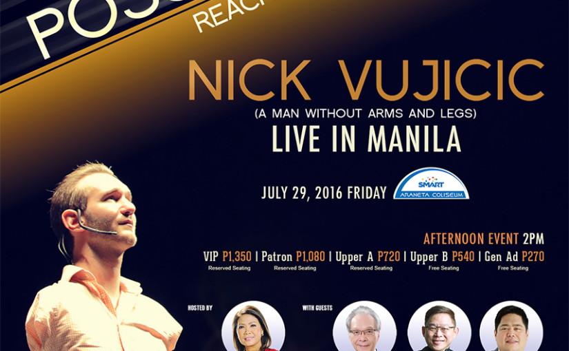 Nick Vujicic returns to Manila!