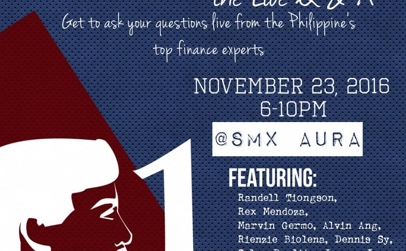 Money Talks, the Live Q&A Forum