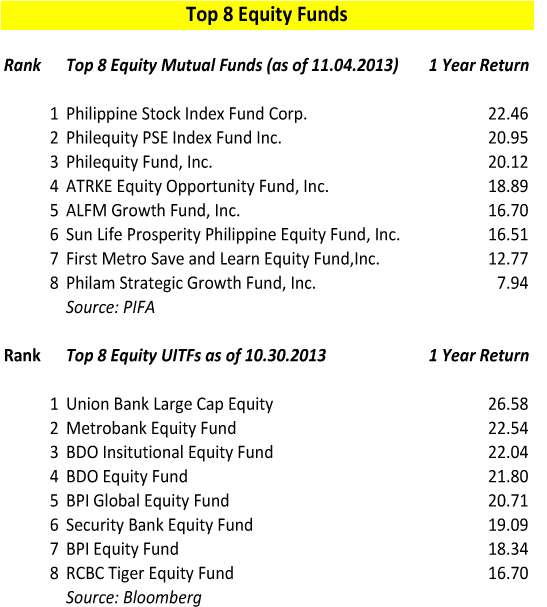 Top Equity Funds Nov 2013